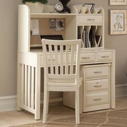 Hampton Bay - White Home Office Desk with Hutch