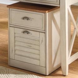 Ocean Isle Mobile File Cabinet with Two Drawers and Drawer Locks