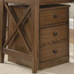 Hearthstone Mobile File Cabinet with Two Drawers and Door Locks