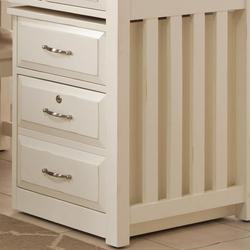 Hampton Bay - White Mobile File Cabinet with File Drawer Locks