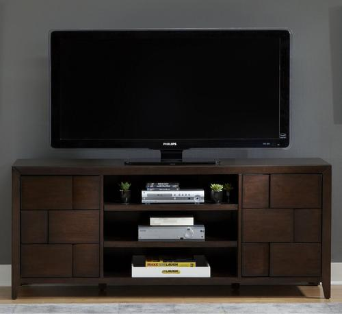 Saxton 72 Inch Entertainment TV Stand With Doors And Shelving
