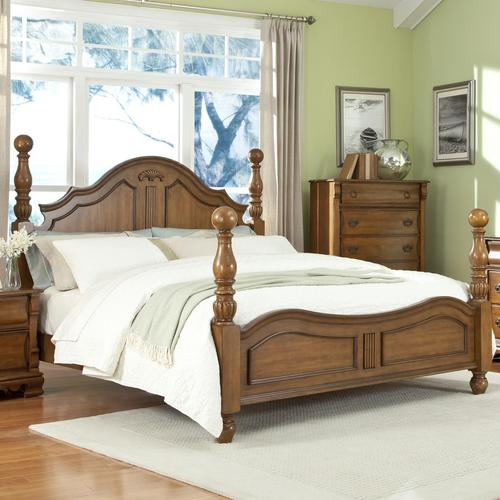 Lifestyle C3146a California King Panel Wood Bed