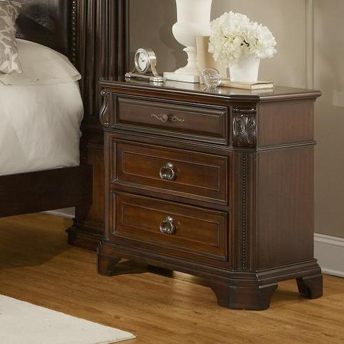 Lifestyle corinthian traditional 3 drawer nightstand - Elegant types of nightstands ...
