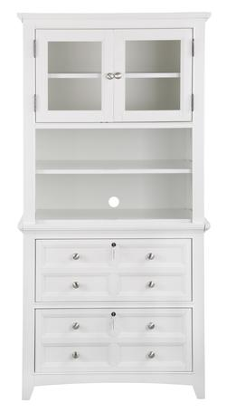 Kentwood Lateral File with Hutch and LED Display Light