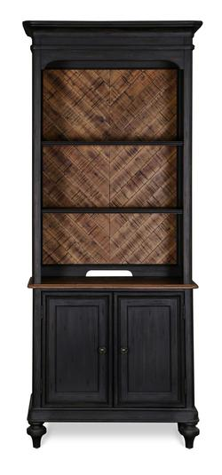 Barnhardt Bookcase with Adjustable Shelves and Closed Storage