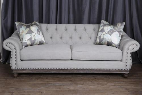 Magnussen Home Victoria Traditional Button-Tufted Sofa with Flared ...