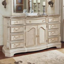 1 000 00 Add To Cart Ortanique Serpentine Shape Dresser With Natural Marble Parquetry Top