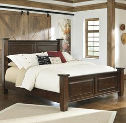 Hindell Park Queen Poster Bed w/ Bead Paneling