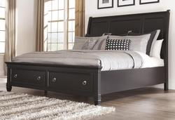 Greensburg Queen Sleigh Bed with Storage Footboard