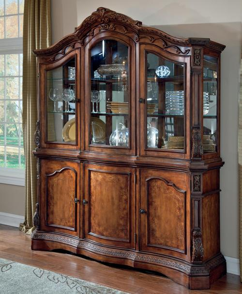 Ledelle Traditional Dining Room Buffet U0026 China Cabinet Hutch