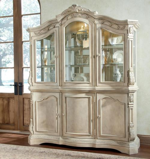 ortanique traditional dining room buffet china cabinet hutch