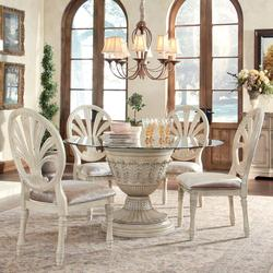 170 00 Add To Cart Ortanique 5 Piece Gl Top Table Set With Pierced Oval Back Chairs