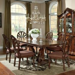 Ledelle 7 Piece Rectangular Table Set With Pierced Back Side Chairs