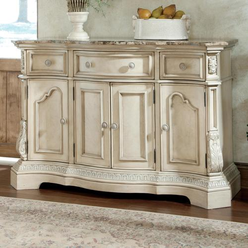 Millennium Ortanique Traditional Dining Room Server with Marble Top