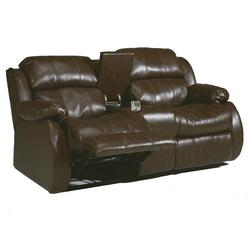 DuraBlend - Café Double Reclining Loveseat with Center Console