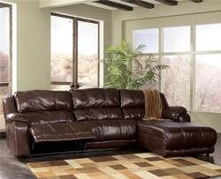 Braxton - Java Sectional with Chaise with Padded Arms