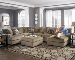 Grenada - Mocha Sectional Sofa with Right-Facing Chaise