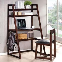 Celia 2 Piece Bookcase Desk and Chair Set