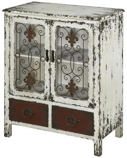 Go To Product · Parcel 2 Door Distressed White Console Cabinet With 2  Drawers