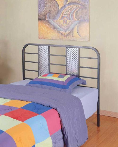 Monster Full Size Metal Headboard With Diamond Plated Panel