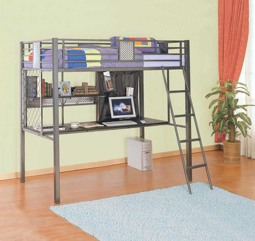 Monster Twin Study Loft Bed With Desk