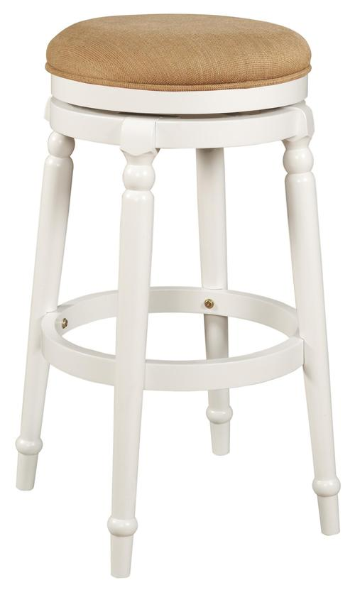 Powell Bar Stools Tables 30 Inch Wood White Swivel Bar Stool