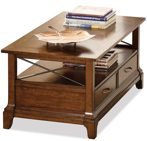 Riverside Furniture Lawrenceville Rectangular Cocktail Table With 2 Drawers