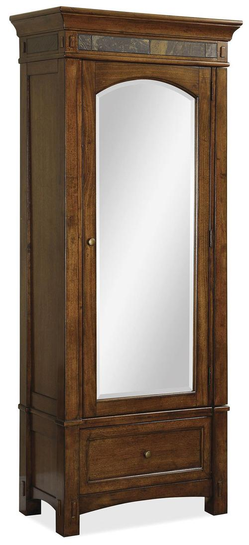 Riverside Furniture Craftsman Home Mirrored Wardrobe With