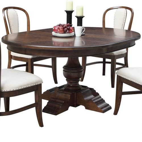 Riverside furniture lawrenceville round dining table with for 52 kitchen table