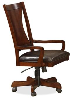 Avenue Cherry Desk Chair with Synthetic Leather Seat