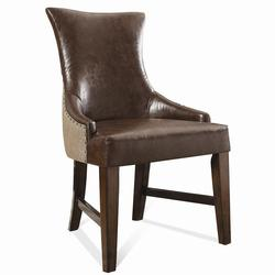 Lawrenceville Desk Chair with Nailhead Trim and Upholstered Seat and Back