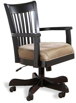 Bridgeport Desk Chair with Upholstered Seat