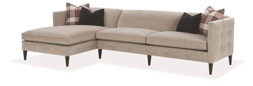 Claire Contemporary 2 Piece Sectional Sofa With Chaise