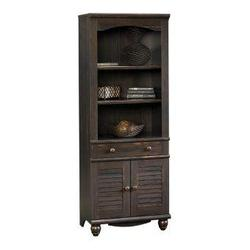 Harbor View Antique Finished 2-Shelf 2-Door Library