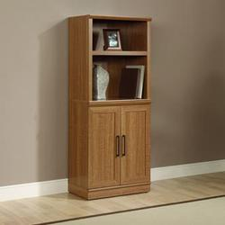 HomePlus Contemporary 2-Door Base Cabinet & Bookcase Hutch