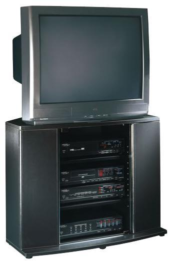 Entertainment Units 35u0027 Entertainment Stand With 2 Touch Latch Doors And  One Glass Door
