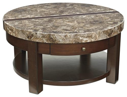 Signature Design By Ashley Kraleene Round Lift Top Cocktail Table With Drawer Shelf
