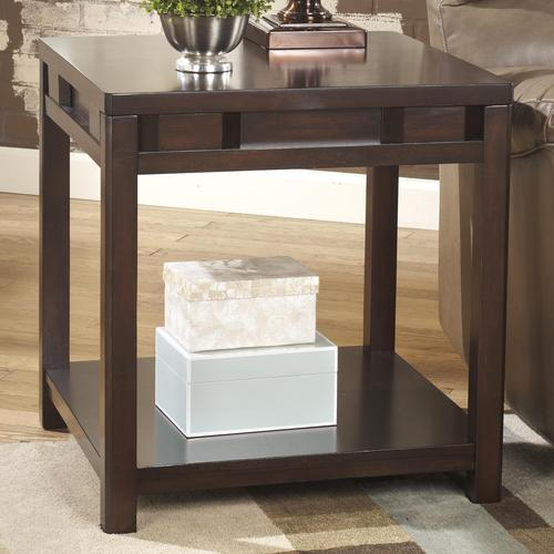 Exceptionnel Templenz Contemporary Square End Table With Shelf