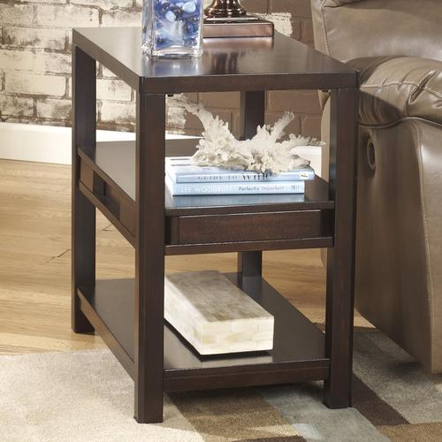 Exceptional Templenz Contemporary Chairside End Table With 2 Shelves