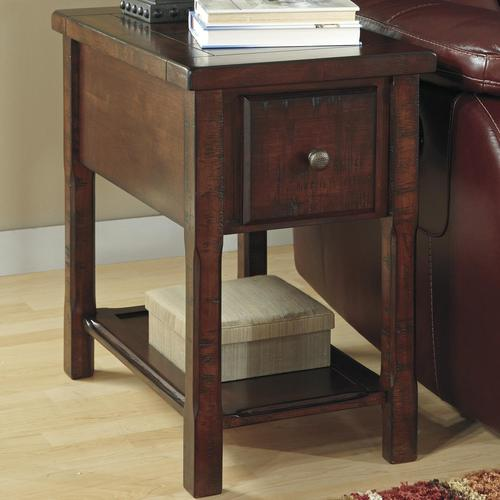 Signature Design By Ashley Hindell Park Chairside End Table W Drawer