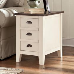 Perfect Whitesburg Two Tone Chair Side End Table With Door Storage