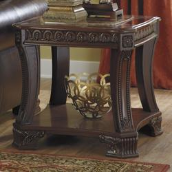 34000 Add To Cart Ledelle Old World Square End Table With Marble Look Top 1 Shelf