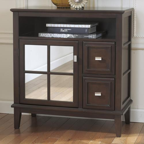 Captivating Larimer Console Table/TV Stand With Mirror Door