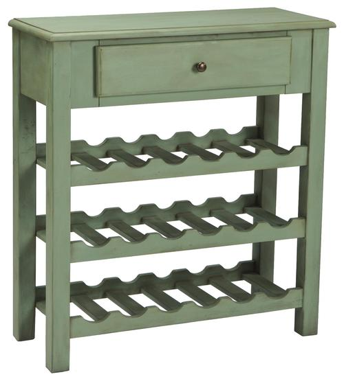 Signature design by ashley cottage accents console with for Wine and design west ashley