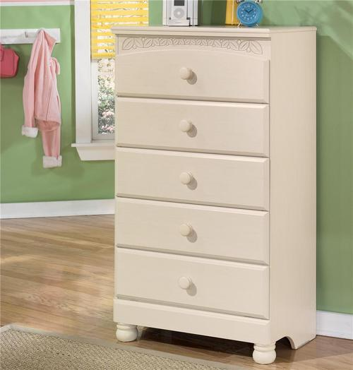 Signature design by ashley cottage retreat 5 drawer chest Cottage retreat collection bedroom furniture