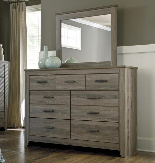 signature design by ashley zelen rustic tall dresser bedroom mirror. Black Bedroom Furniture Sets. Home Design Ideas