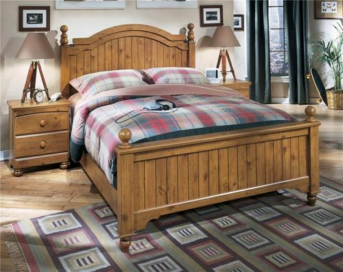 Signature design by ashley stages queen poster bed for Stages bedroom collection