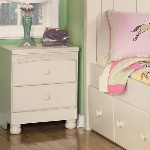 Signature design by ashley cottage retreat 2 drawer nightstand for Cottage retreat ii