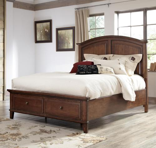 Signature Design By Ashley Burkesville King Panel Storage Bed With 2 Footboard Drawers