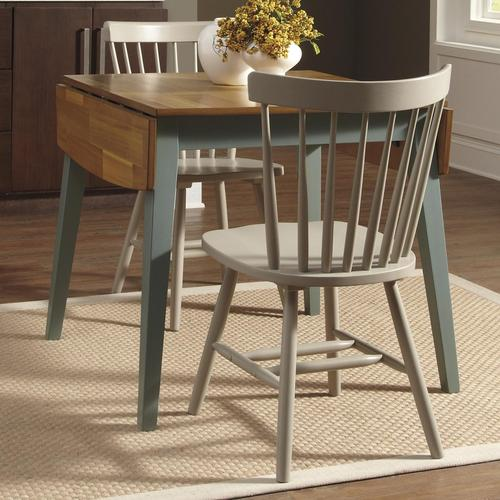 Bantilly 3 Piece Blue Drop Leaf Table Set With Gray Side Chairs